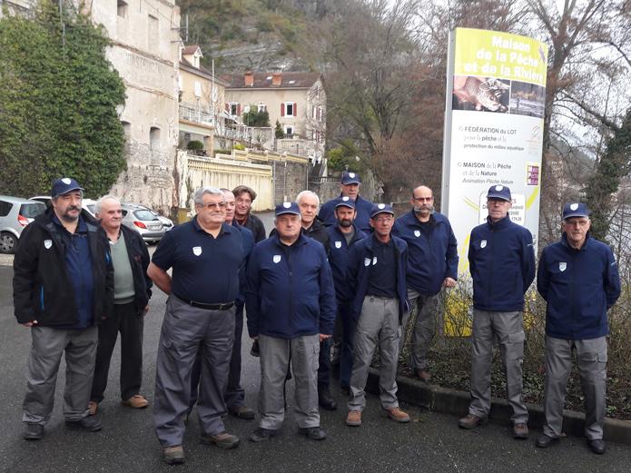 La brigade des gardes pêche du Lot