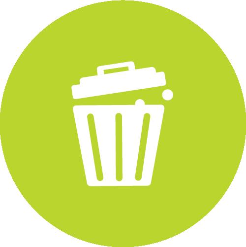 Pictogramme représentant poubelle pour jeter les déchets