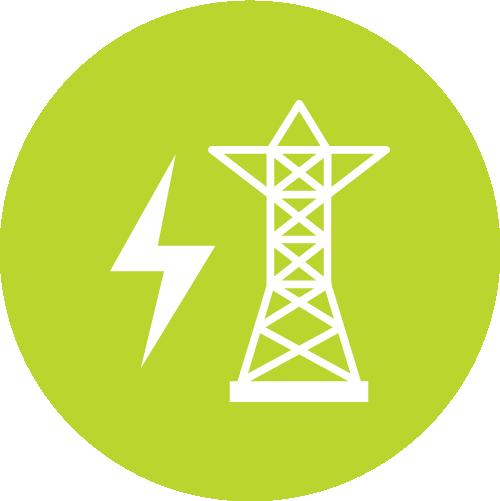 Pictogramme représentant un pilône pour le risque électrique